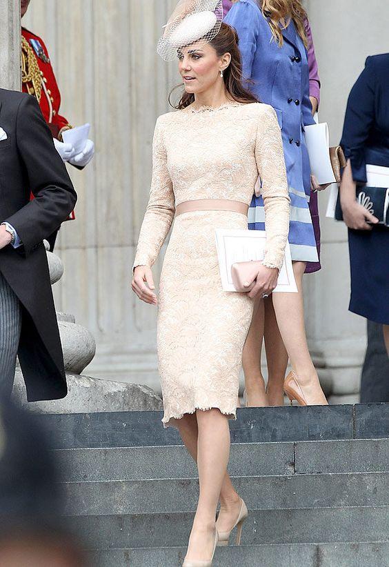 Catharine, Duchess of Cambridge, wearing Alexander McQueen in 2012.