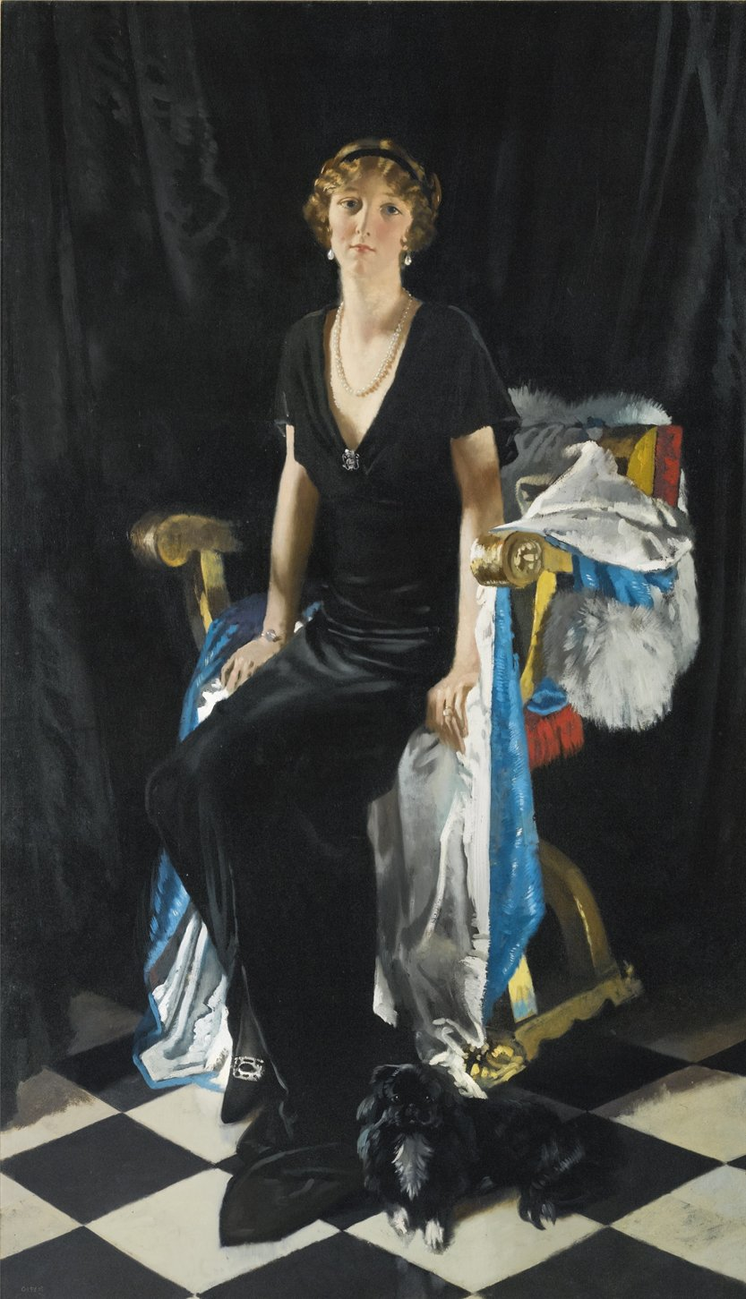 William Orpen, A Portrait of Lady Idina Wallace, 1915.