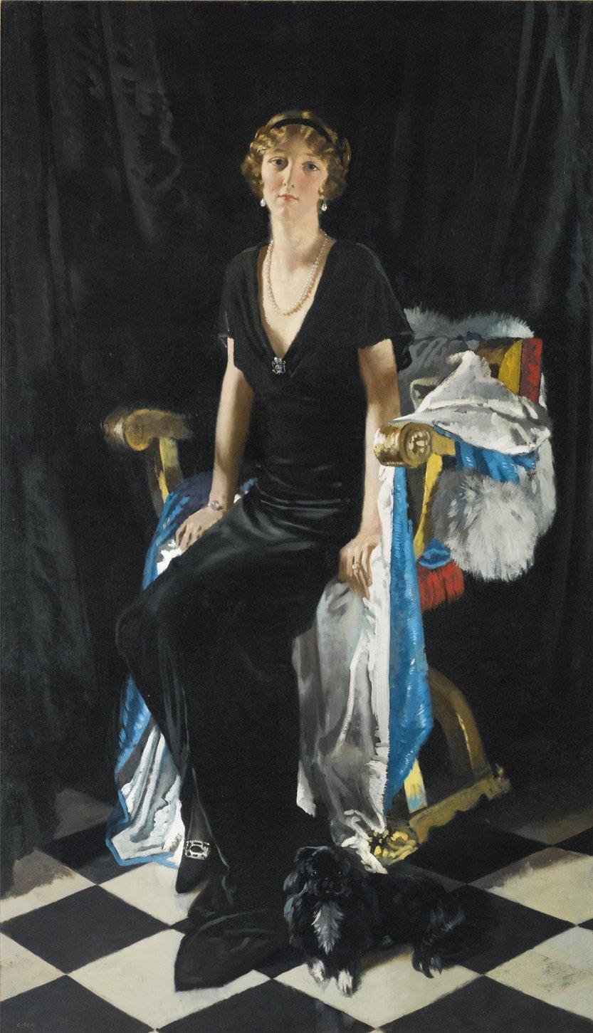 William Orpen,A Portrait of Lady Idina Wallace, 1915.