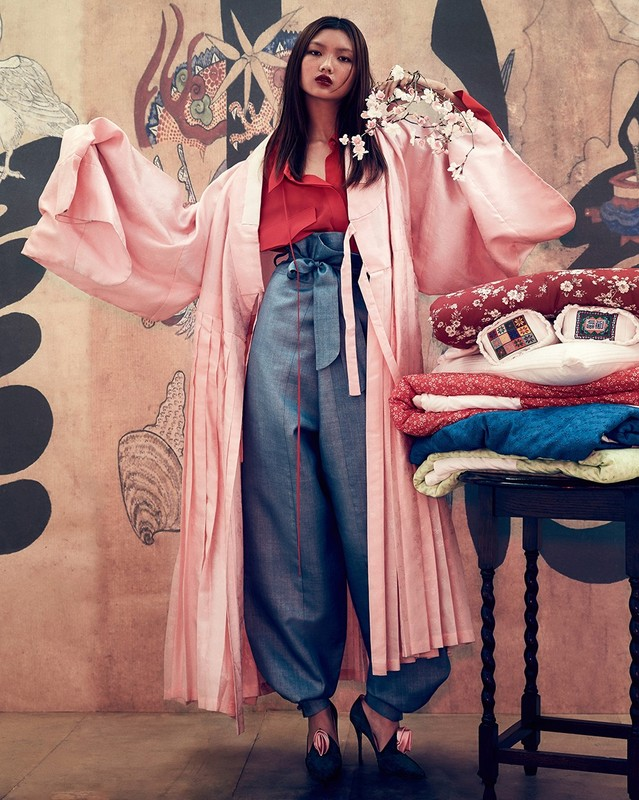 Let's not forget about this pink wonder, which launched  my foray into pink . WHO MAKES THIS? Photo: Hong Jang Hyun for Vogue Korea.