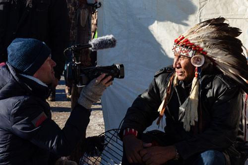 Chief Arvol Looking Horse,spiritual leader of the Lakota, Dakota, and Nakota Nations. Photograph by Joseph Zummo via YES! Magazine.