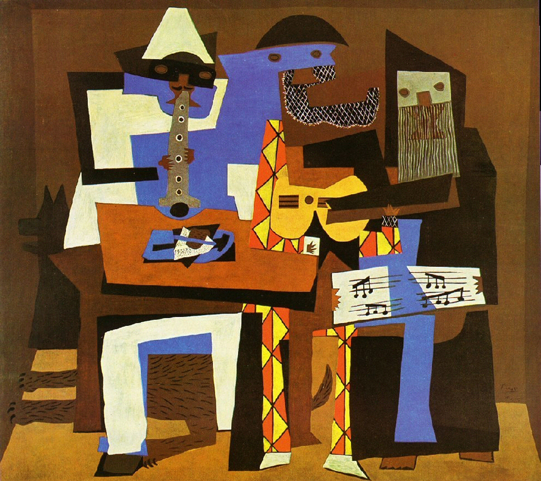 Three Musicians, Picasso, 1921.