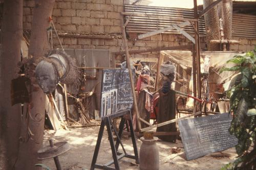 Objects in the artist;s courtyard, 1992, in Dakar, Senegal. Photograph: Clémentine Deliss