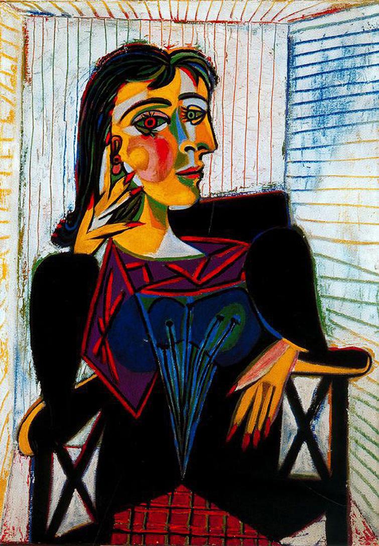 Portrait of Dora Maar, Picasso, 1937