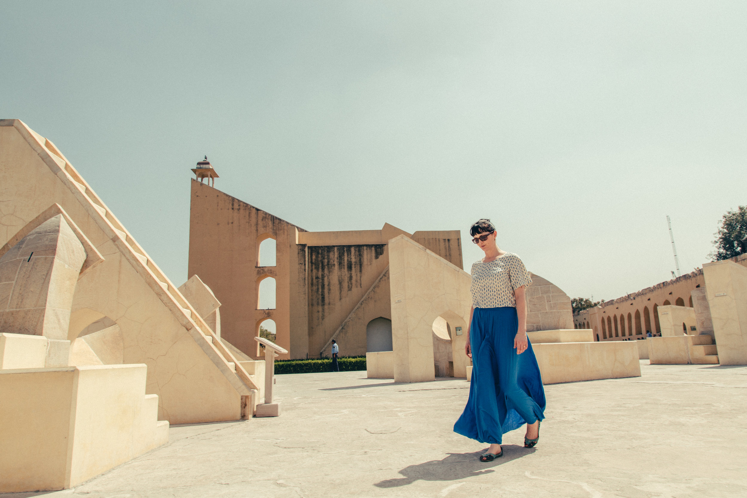 Here's Eva on her most recent trip to Jaipur