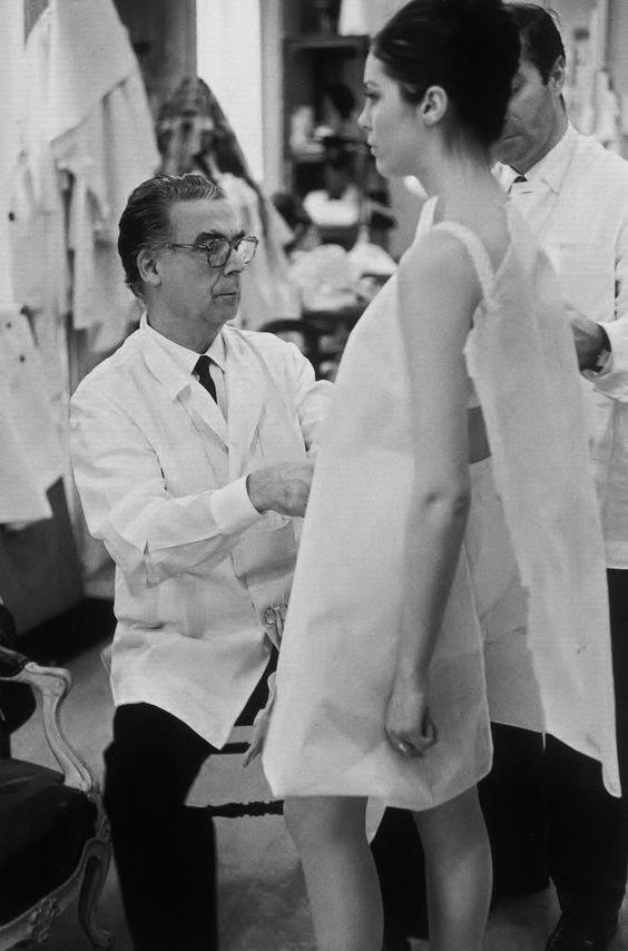 Cristóbal Balenciaga in his atelier in 1958. Photo by Henri Cartier-Bresson.