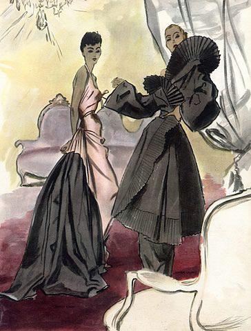 Maggy Rouff & Lucien Lelong, 1948