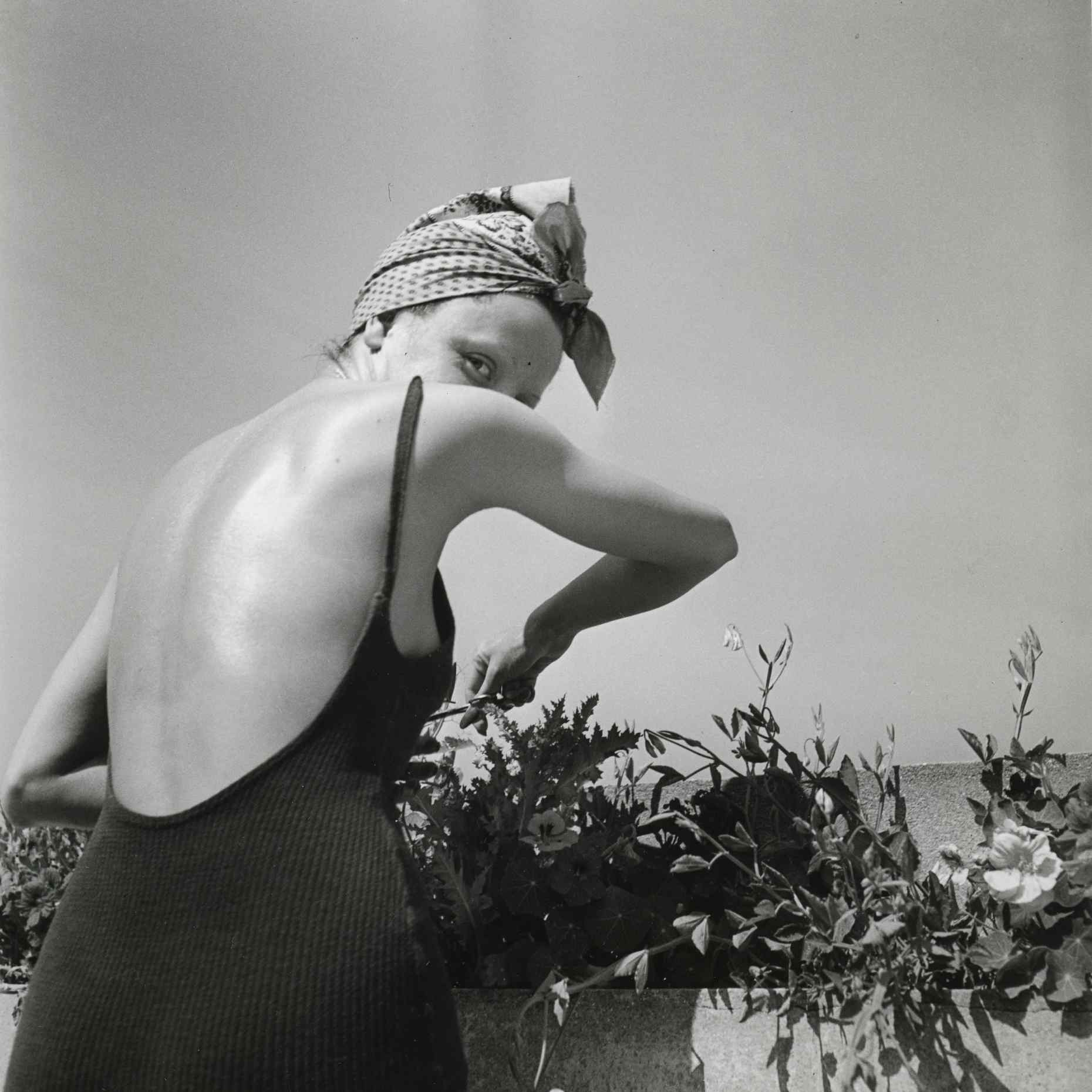 Coco on the terrace, Neuilly, June 1938  by Jacques-Henri Lartigue © Ministère de la Culture - France / A.A.J.H.L.