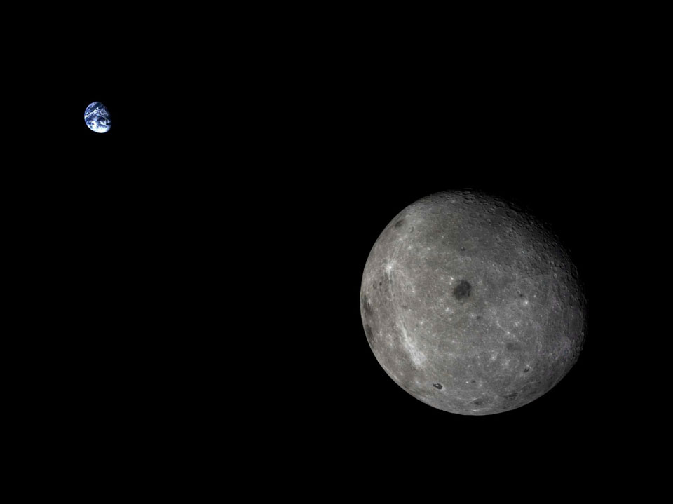 Moon and Earth from Chang'e 5-T1. Credit: Chinese National Space Administration, Xinhuanet  via  NASA's Astronomy Picture of the Day.
