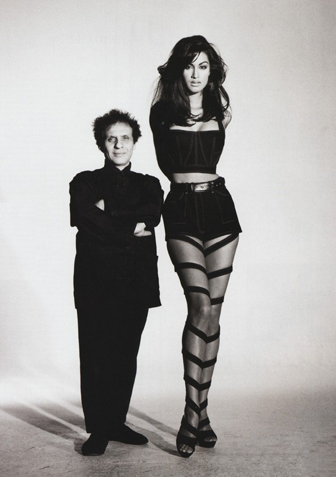 Azzedine Alaïa and Yasmeen Ghauri photographed by Patrick Demarchelier in Vogue, 1991