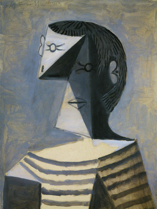 Pablo Picasso | Half-length Portrait of a Man in a Striped Jersey | 1939