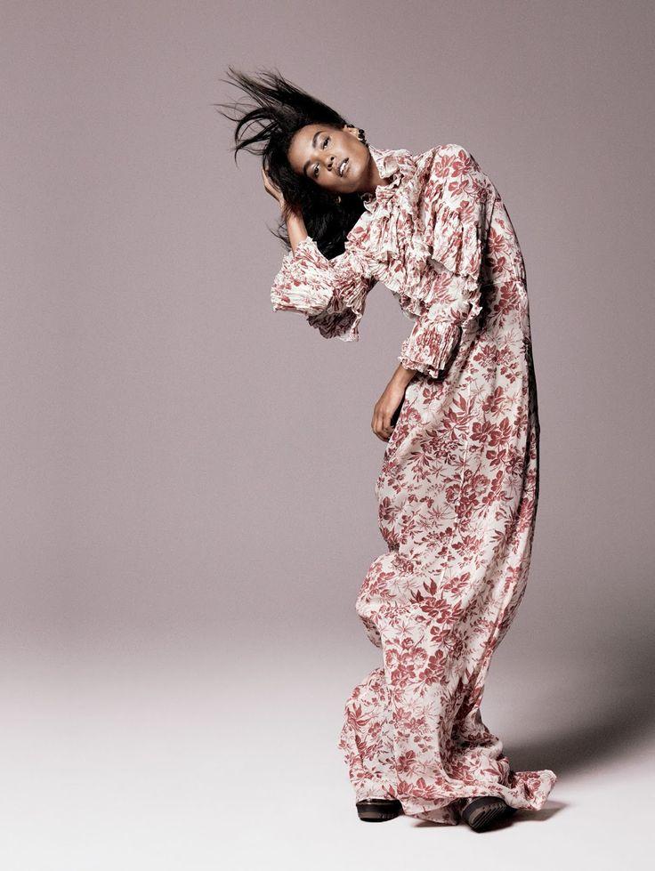 Liya Kebede by David Sims for Vogue US, September 2015