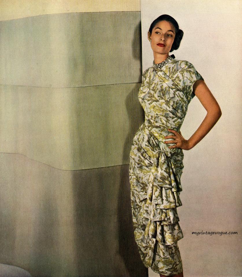 Herbert Sondheim rayon dress, 1948