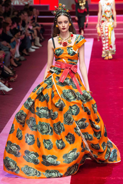 Dolce & Gabbana Spring Summer 2018 RTW. Photo: Indigital  via  Vogue UK.