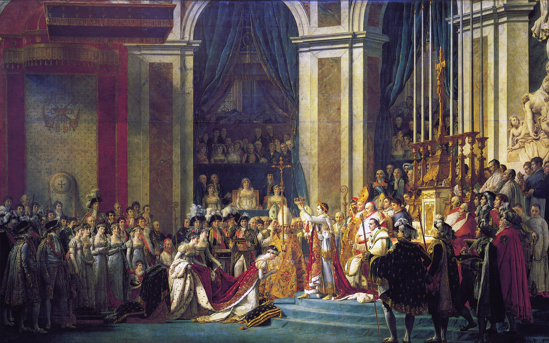 The Coronation of Napoleon by Jacques-Louis David, circa 1805-1807