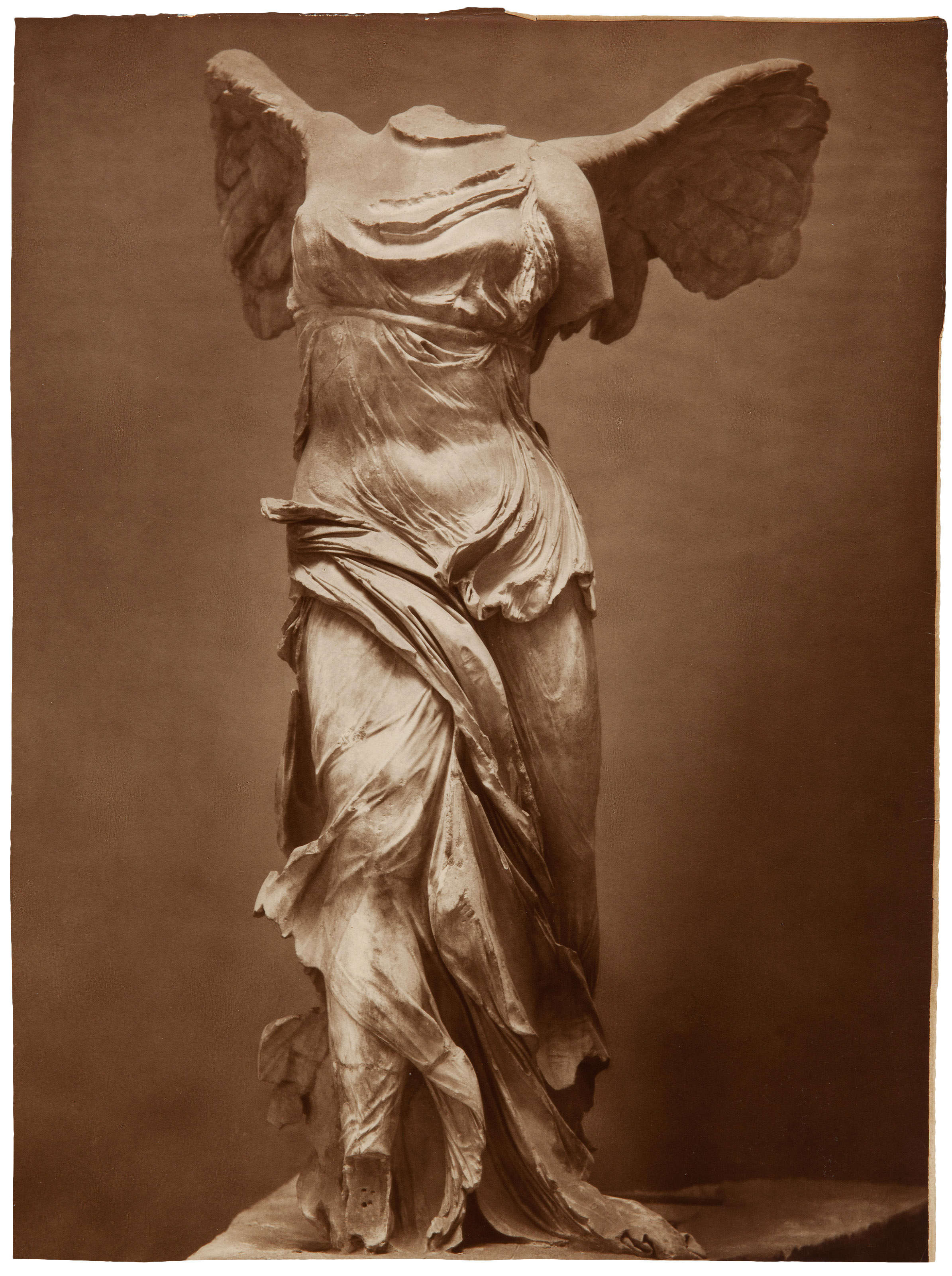 Édouard-Denis Baldus, The Winged Victory of Samothrace, circa 1855. The Louvre.