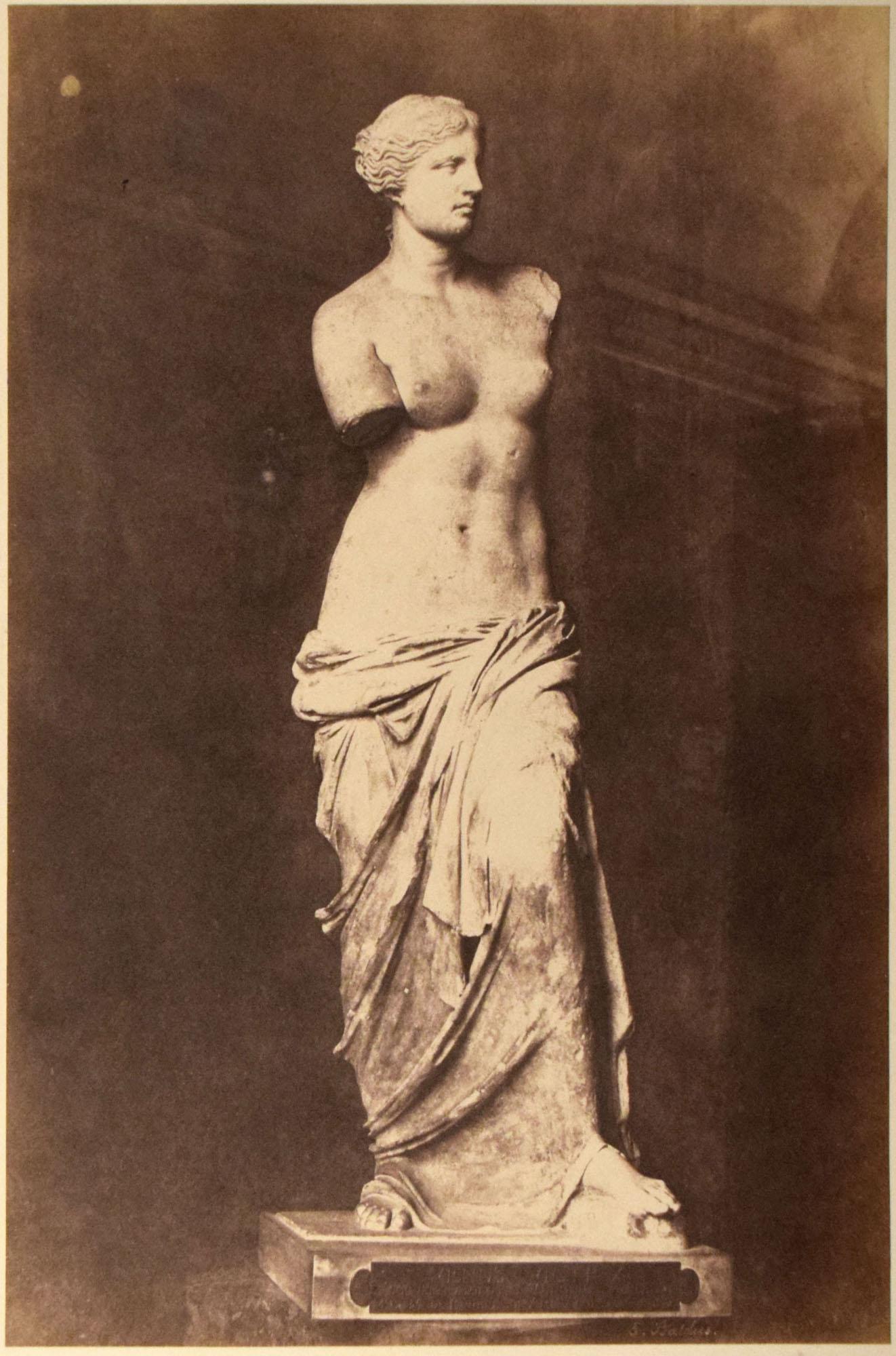 Édouard-Denis Baldus, Venus de Milo,circa 1865. The Louvre.