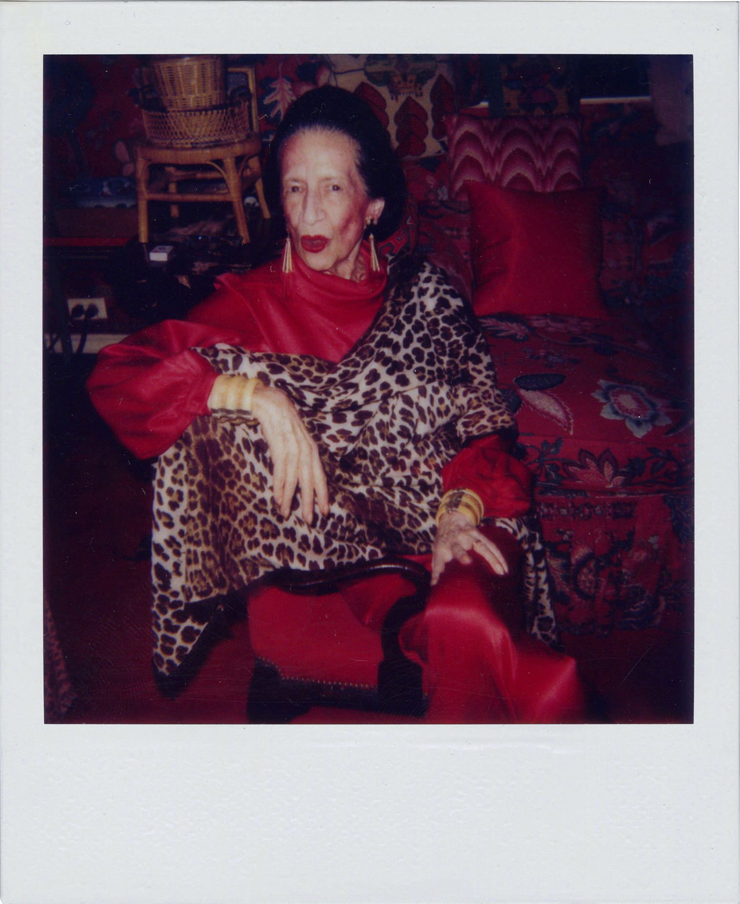 Diana Vreeland polaroid by Andy Warhol, circa 1982