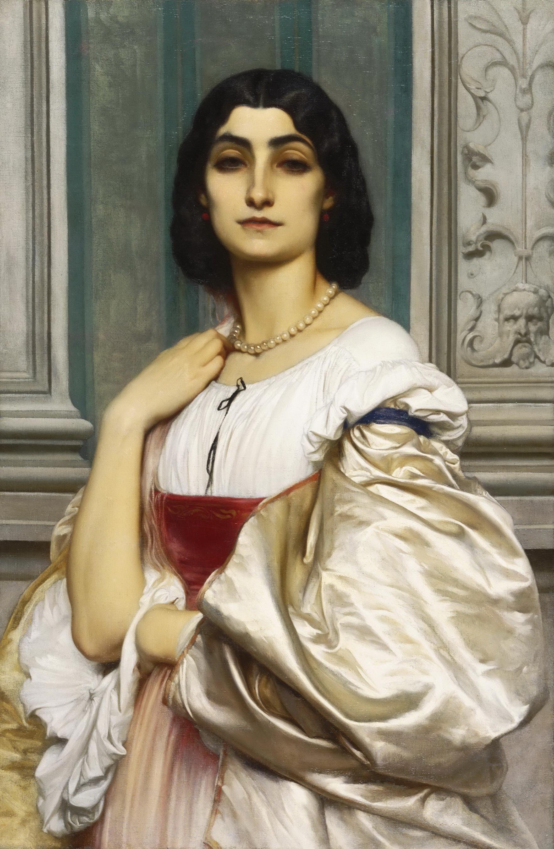 A Roman Lady | Frederick Leighton, c. 1858