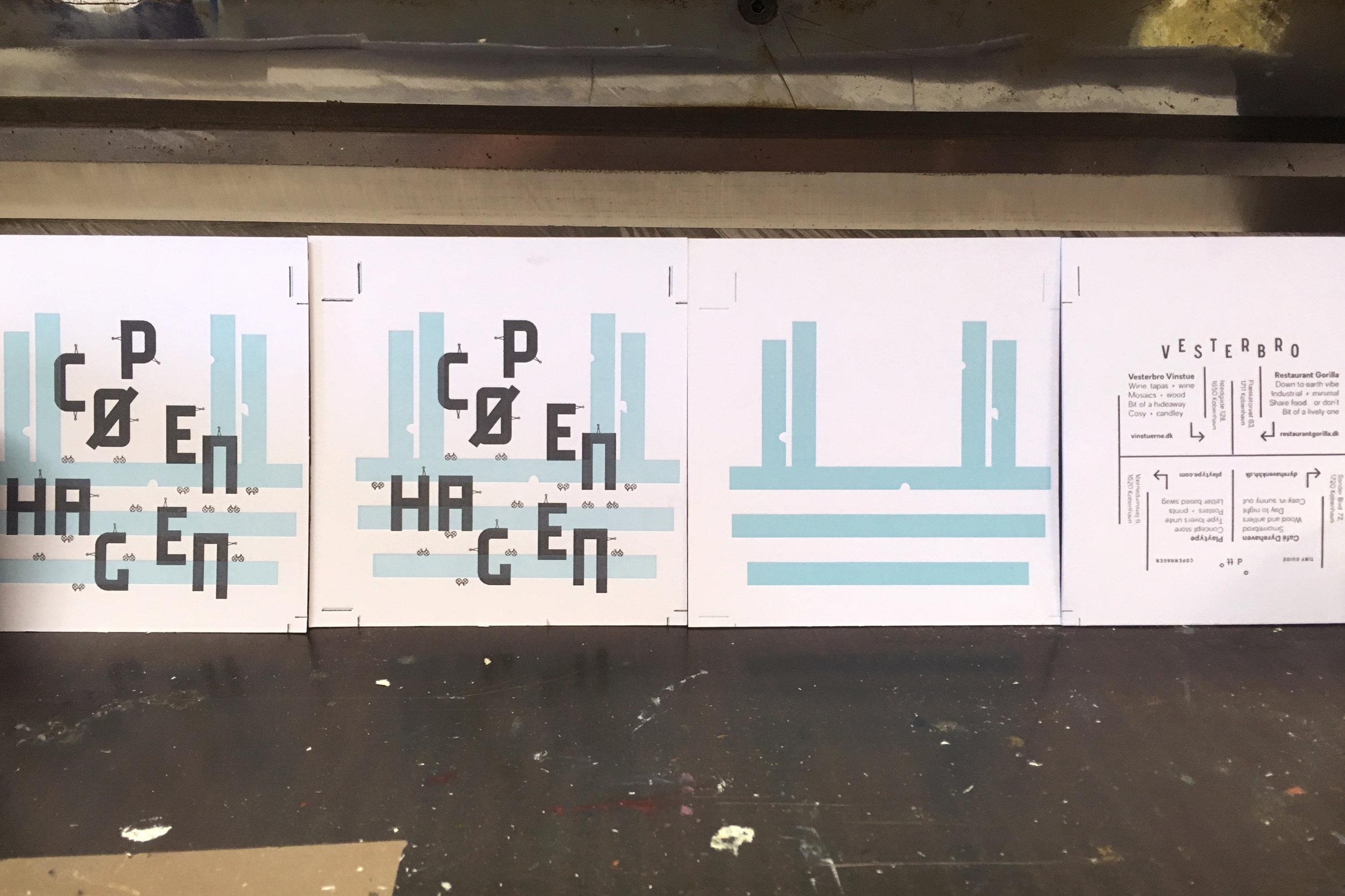 Copenhagen on press, 2 plates done