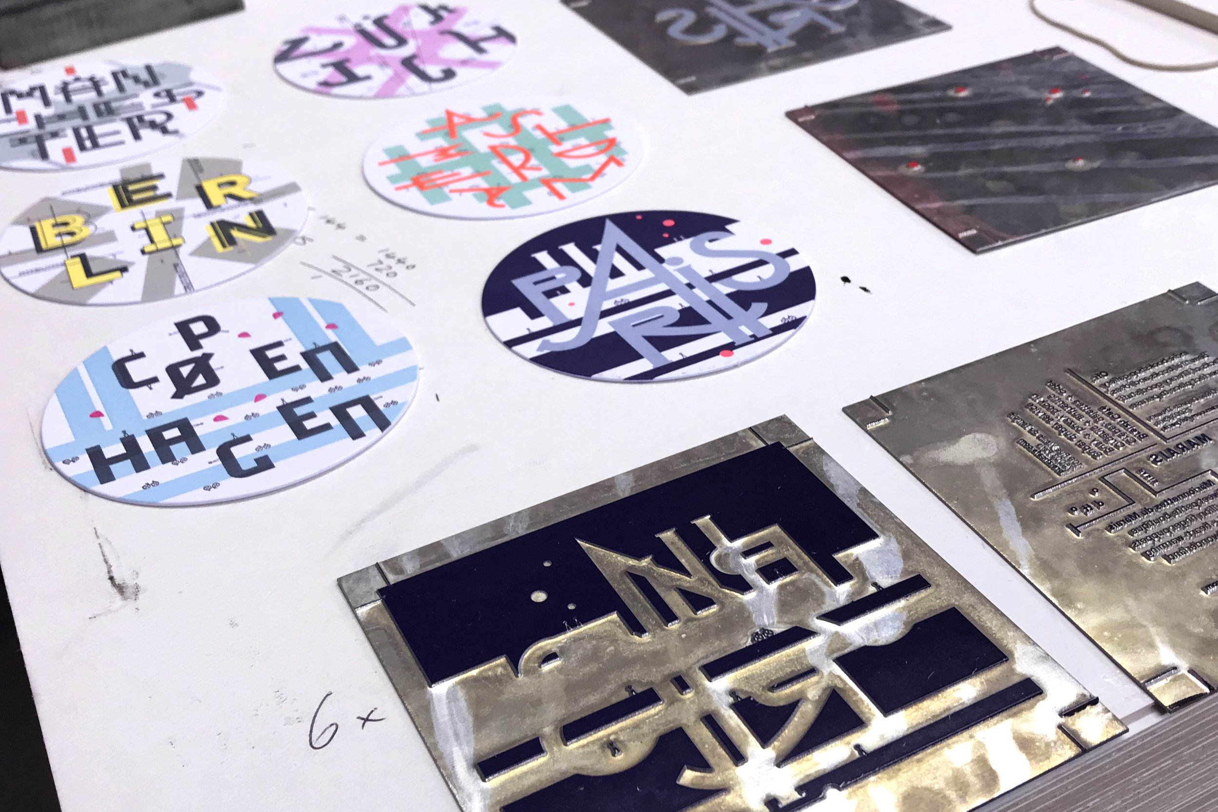 Tiny Guides and printing plates