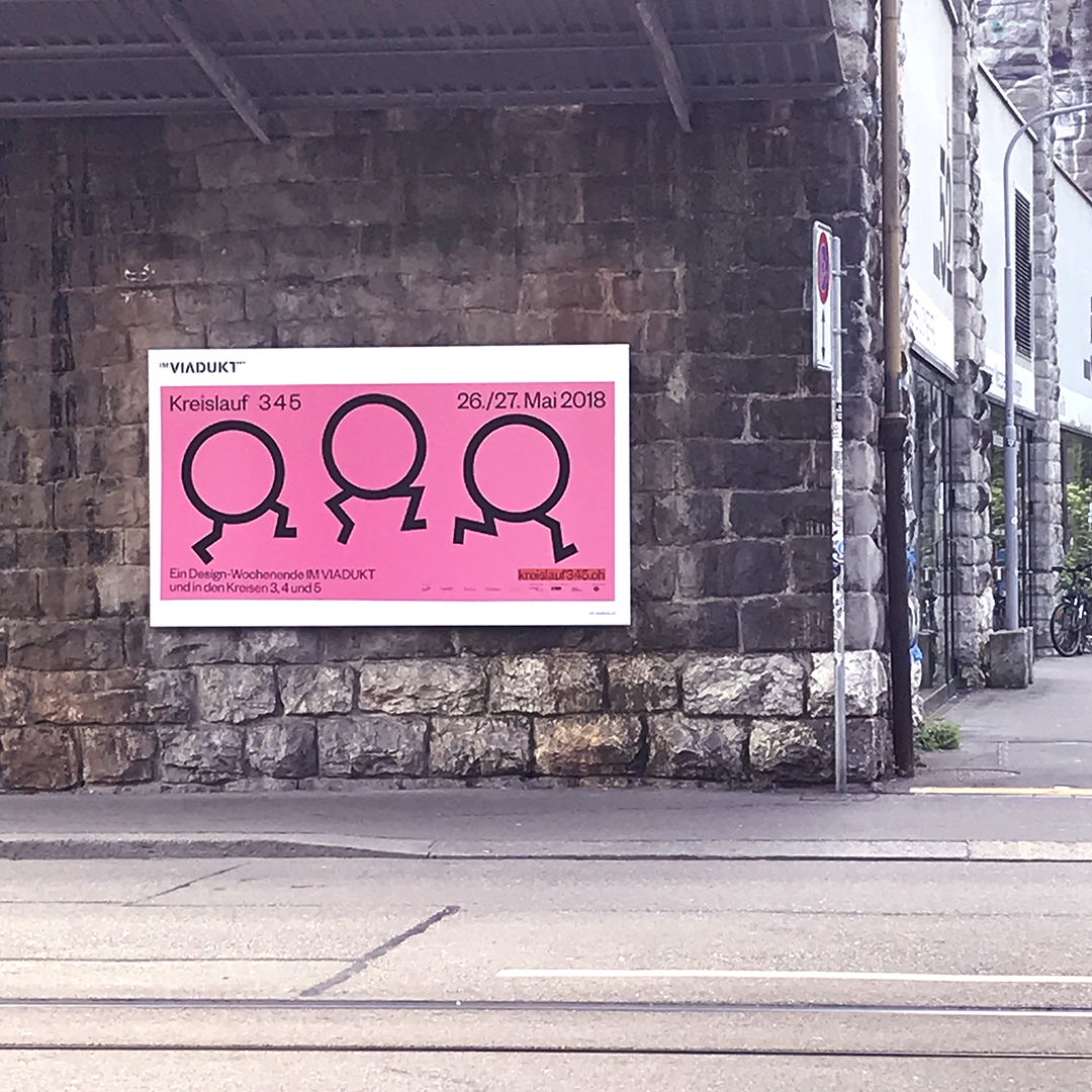 Pink posters everywhere