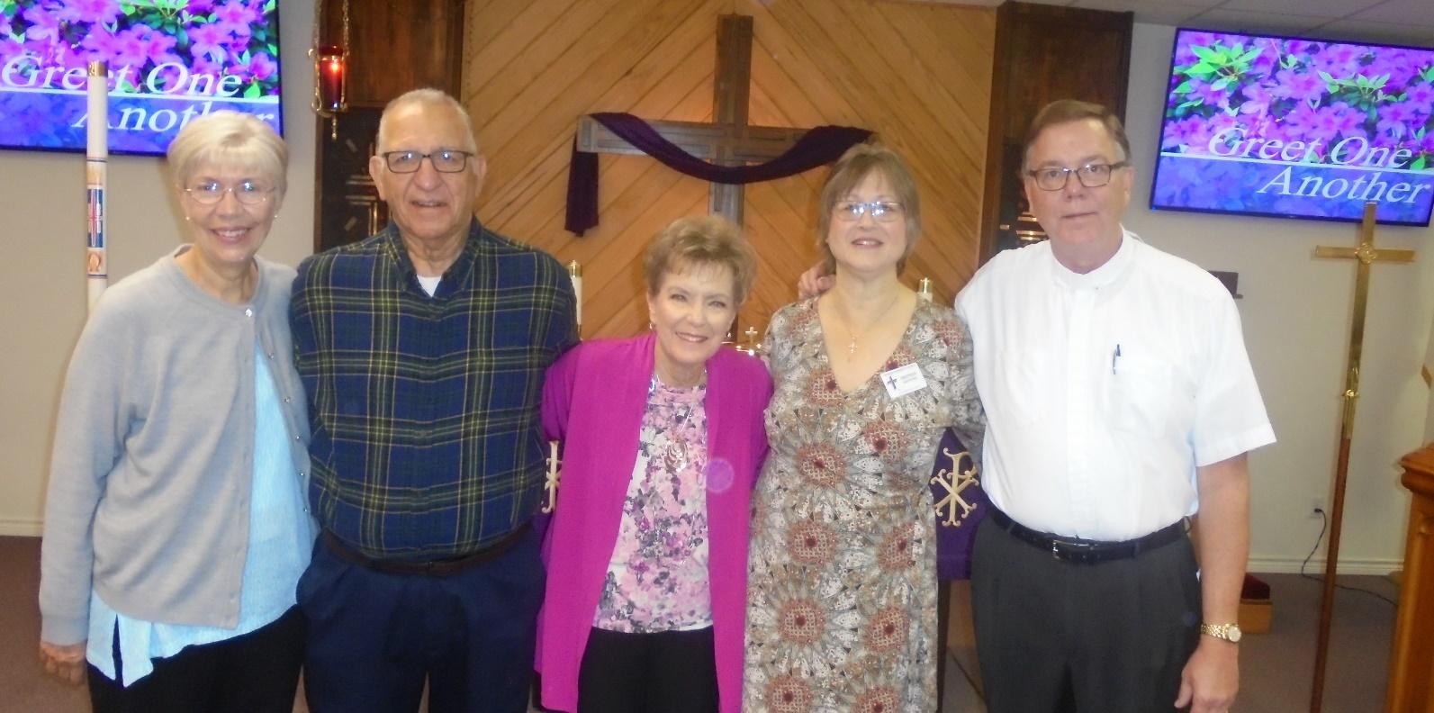 Our Stephen Minstry Team at Genesis. Carol Carlos, Joe Carlos, Carol Doyal, Brenda Rienstra and Pastor Trey Rienstra.
