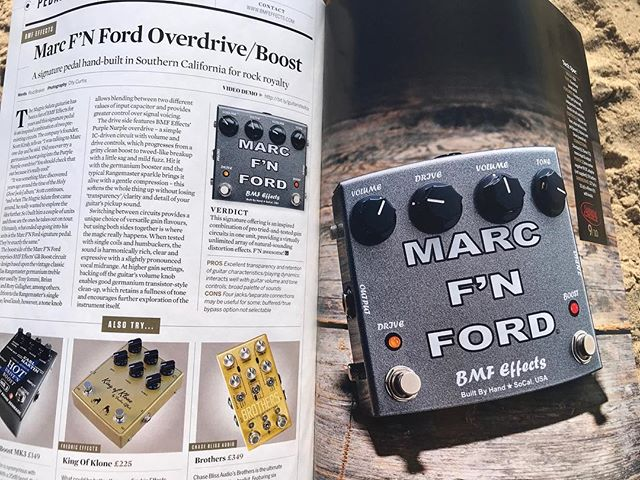 Nice feature from my friends @guitarist_mag on my #MFF signature @bmf_effects pedal! There are limited quantities still for sale. See it at work tonight @canneryballroom at 8pm with @themagpiesalute