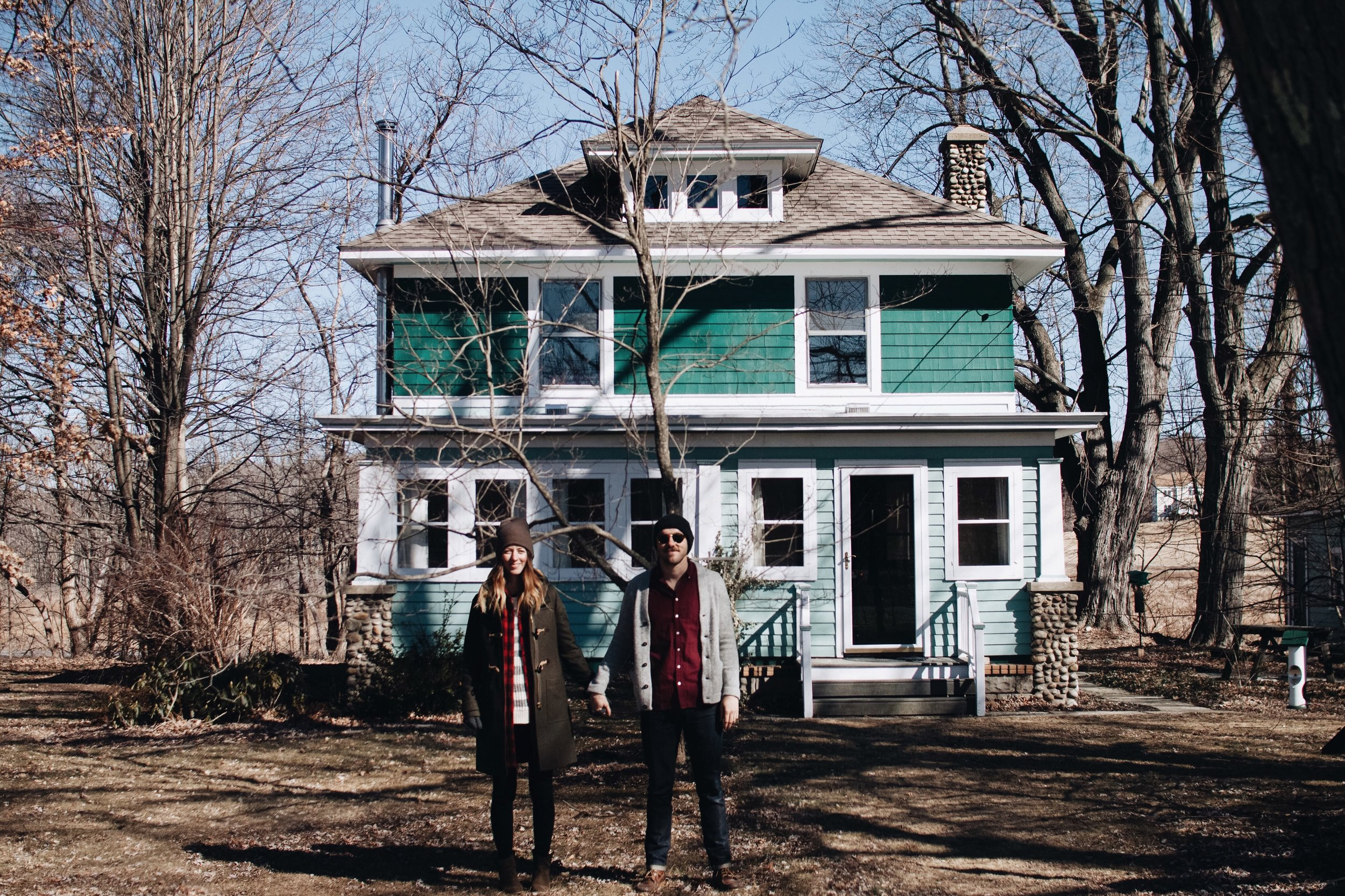 Our realtor took this snap of us after our second viewing of the home, just before we put in our offer.