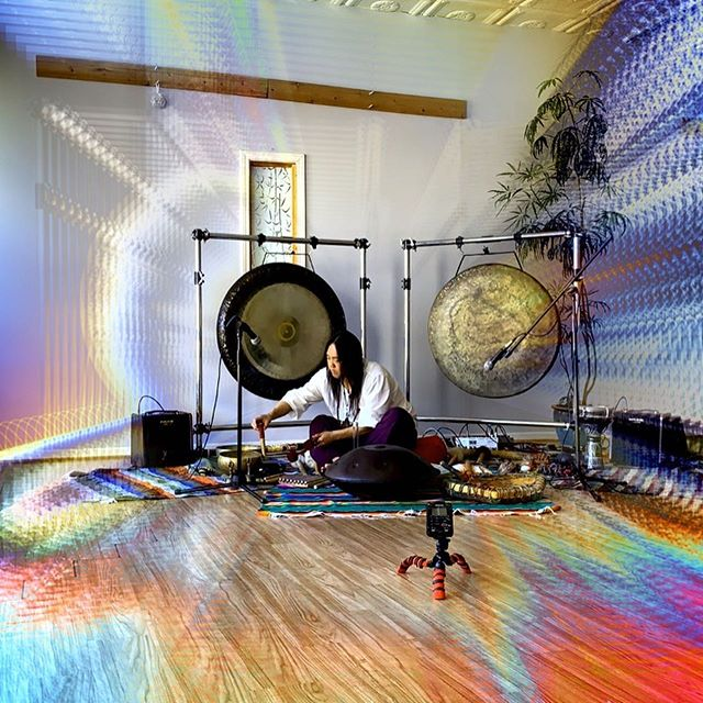 Sound Journey with @shamanjay7 out tomorrow (Saturday) at 11 AM CST! ⛰☀️ . #soundjourney #asmr #harmonicwaves #soundmeditation #theta #handpan #gong #flute #singingbowl #shamanjay #peaksunrise