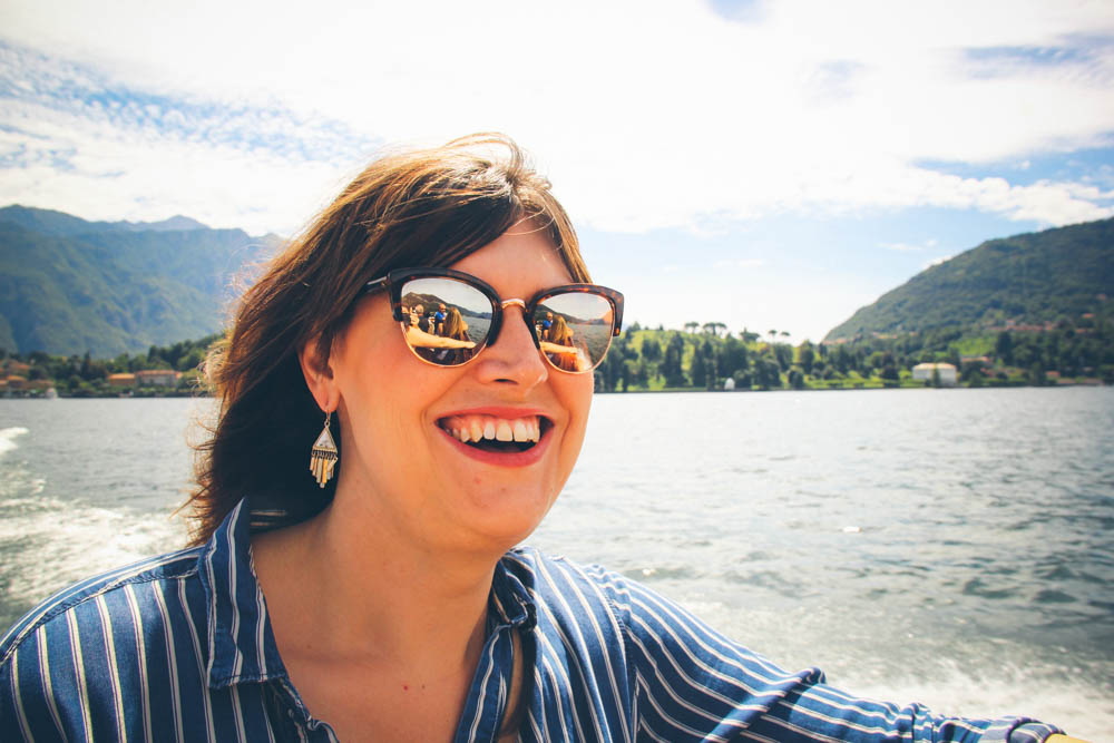 Lauren on Lake Como