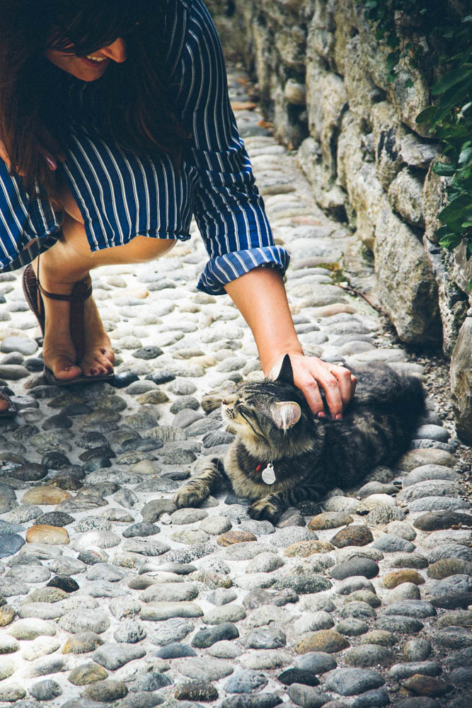 Lauren and this Italian cat.