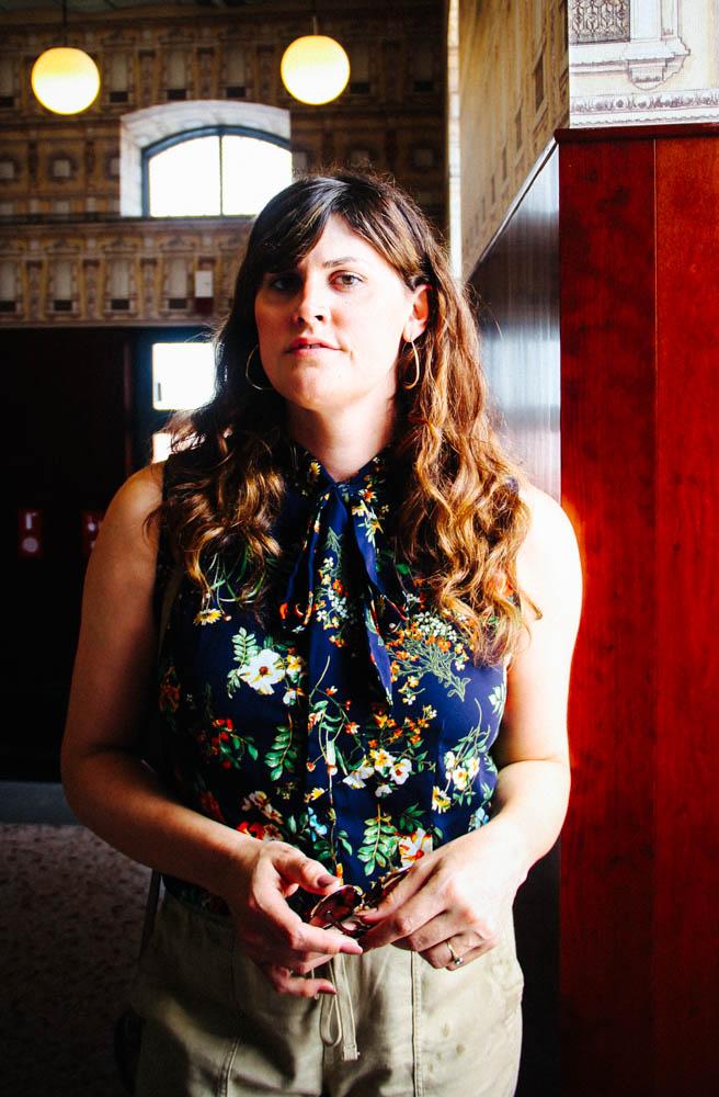 Lauren at Bar Luce in Il Fondazione Prada.