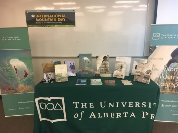The University of Alberta Press book display