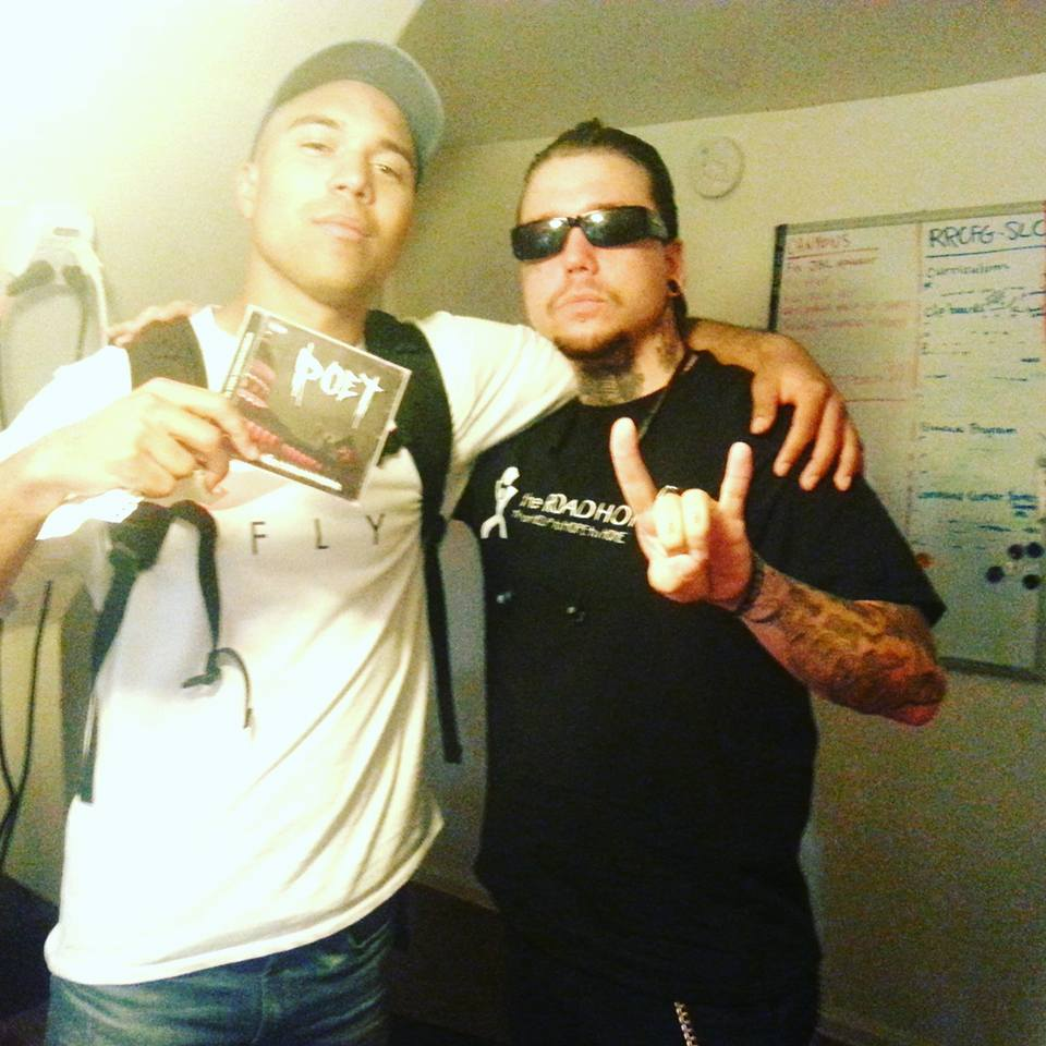 Poet & JamesTheMormon on the set of SLUG Soundwaves-Thursday 8-18-2016