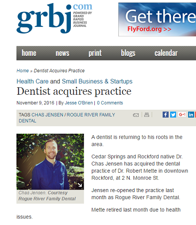 Rogue River Family Dental Rockford Dentist Grand Rapids Business Journal