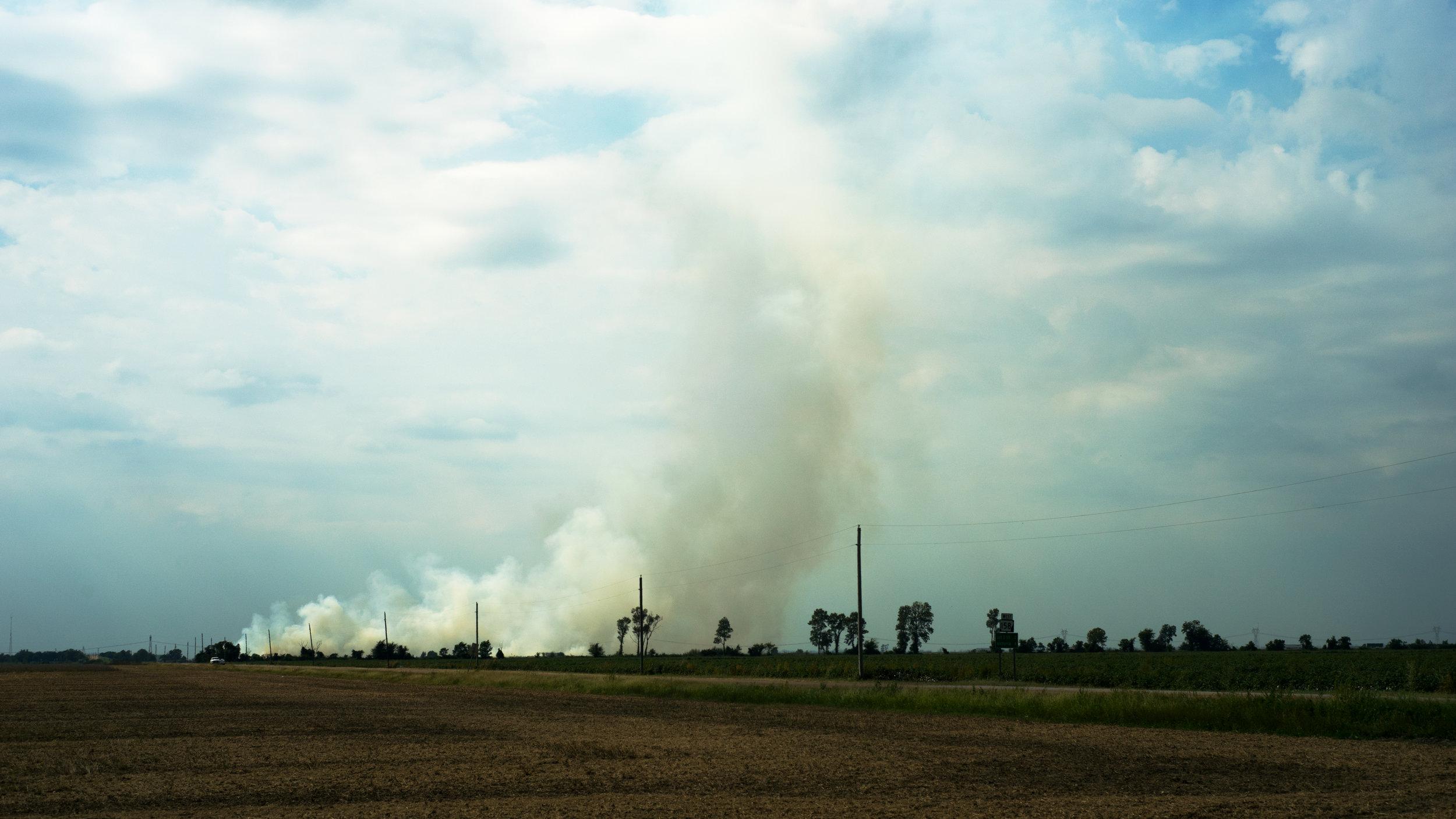 Burning Field, Osceola, AR, 2017