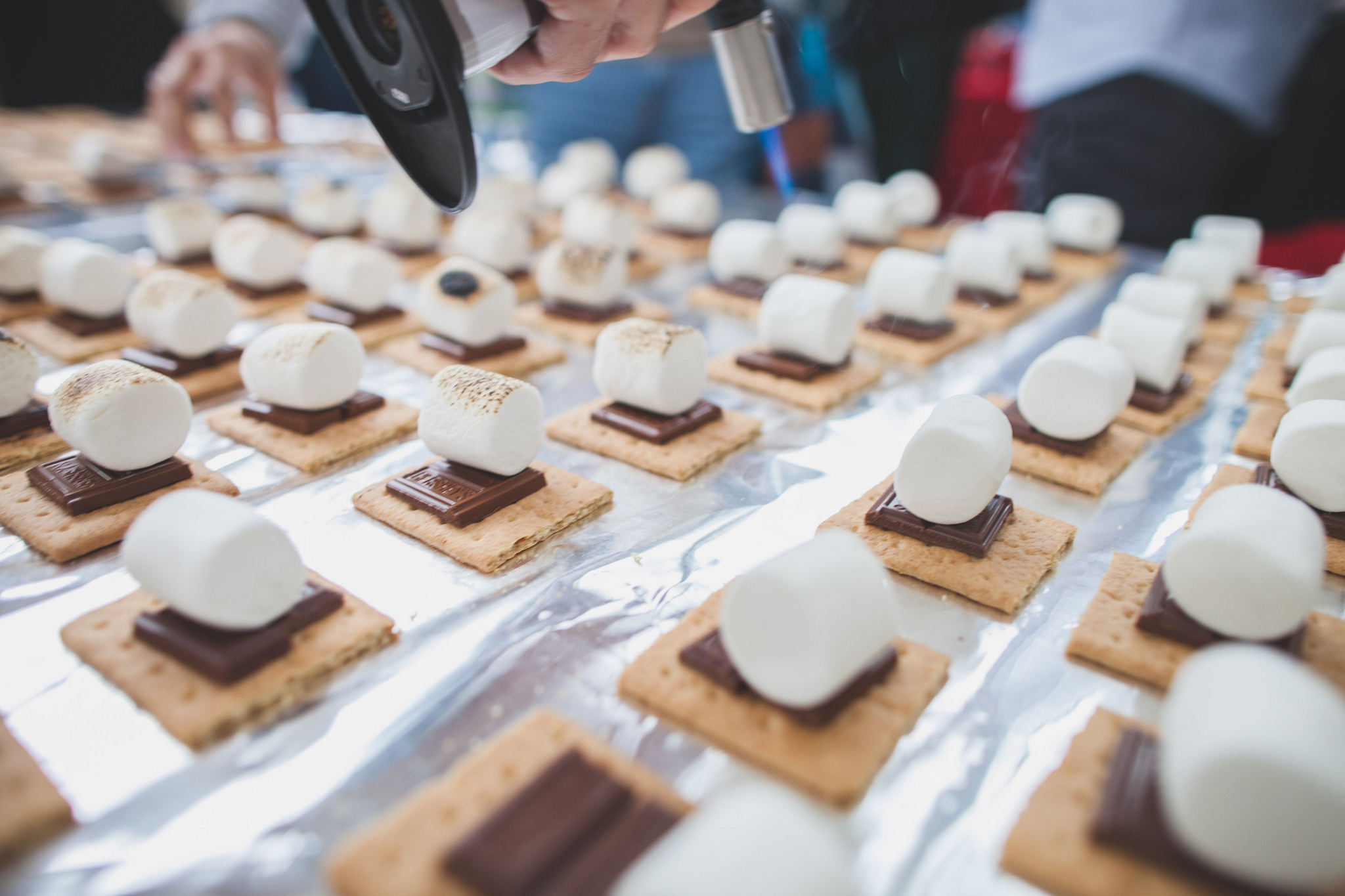 S'mores for 1500 guests at Brooklyn Beta.