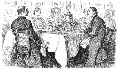 """""""True Humility"""" cartoon , by  George du Maurier , from  Punch  November 9, 1895."""