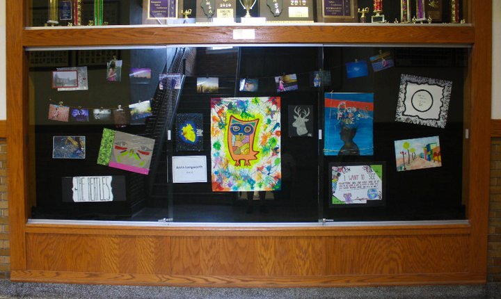 A collection of my art from my senior year in high school. Most pieces were heavily inspired by music.