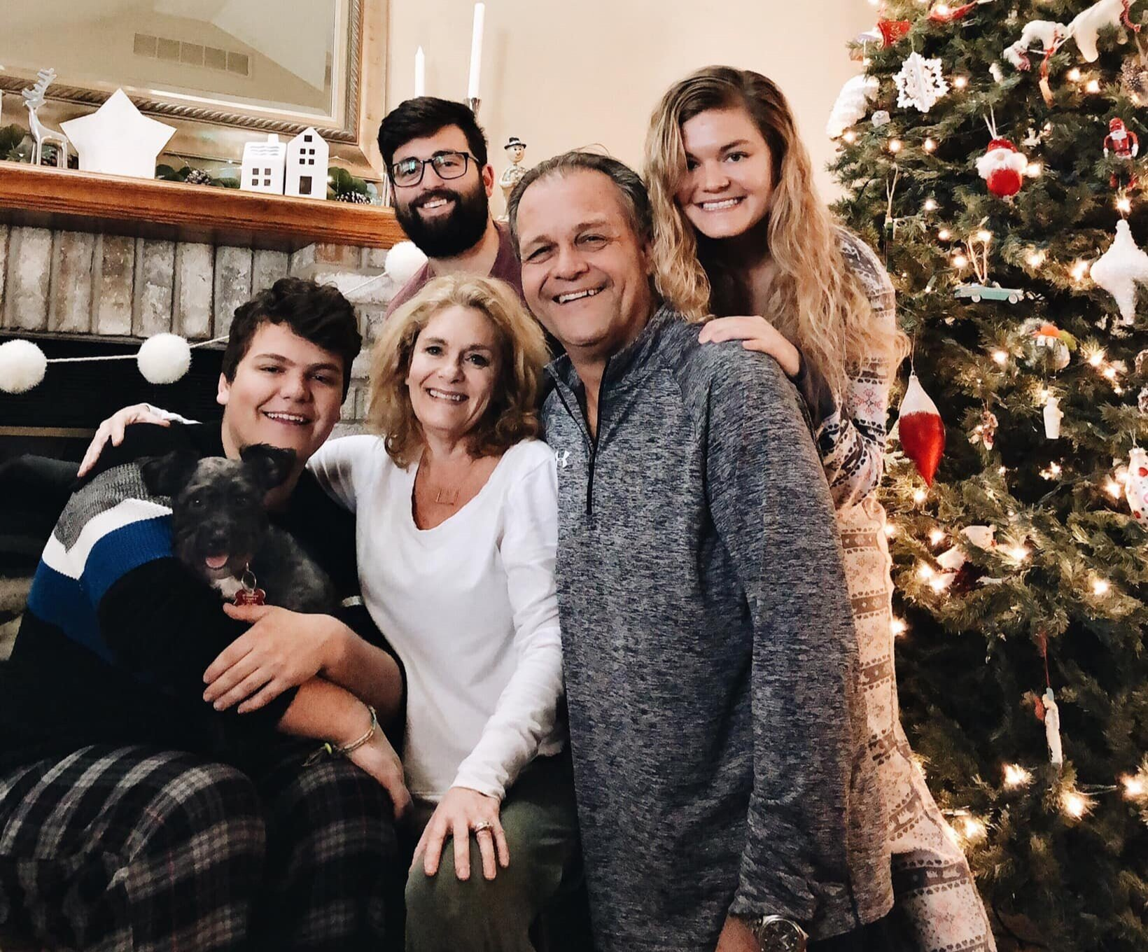 My favorite people: my family and my fiancé, Patrick.