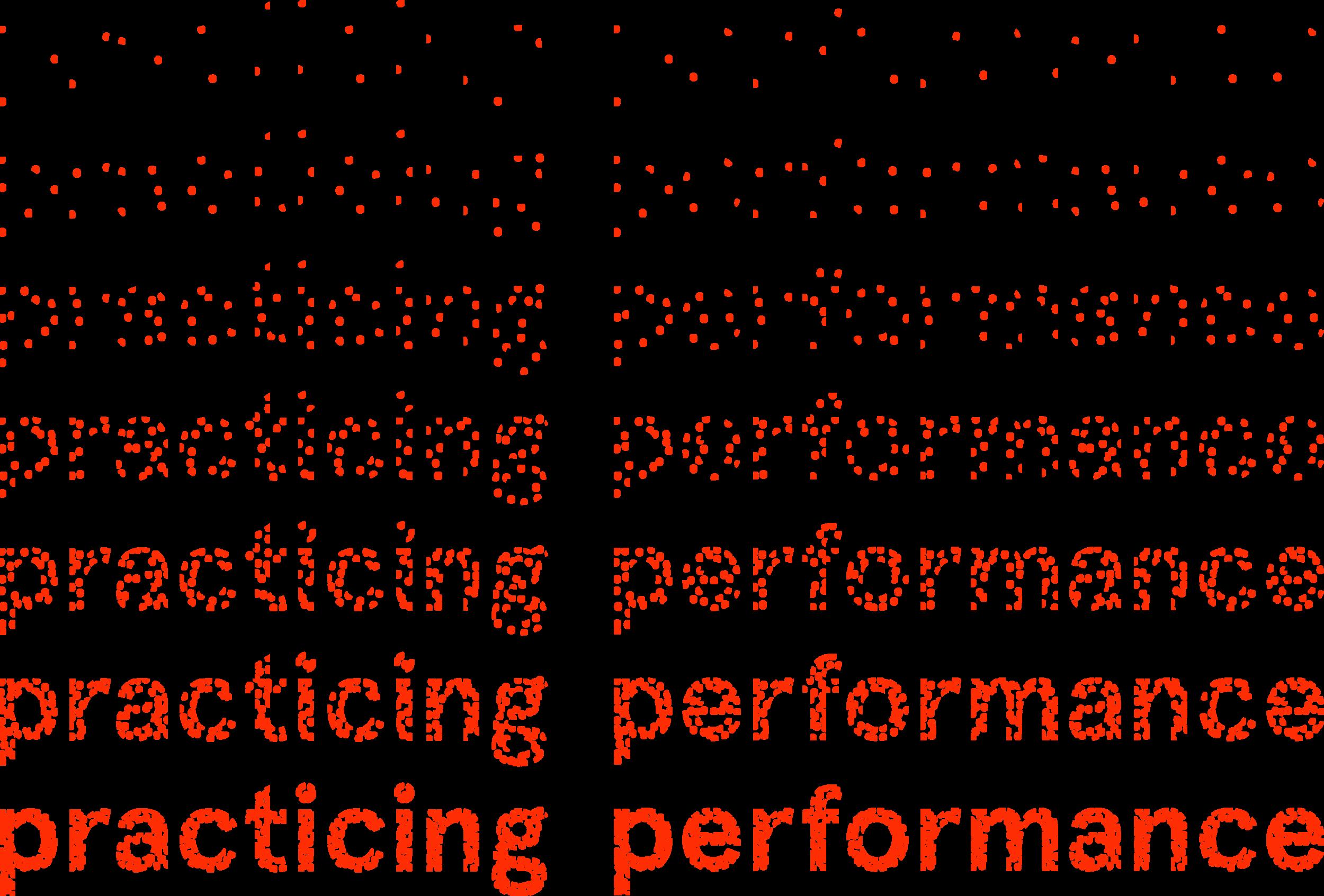 Practicing Performance © Christopher Schieche
