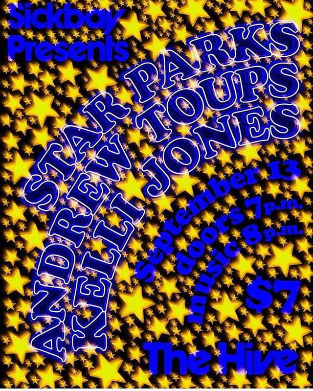 #sickbay Sickbay Presents :: @kc_jones_87 Kelli Jones // Andrew Toups // Star Parks // At The Hive Lafayette, Louisiana // Doors at 7