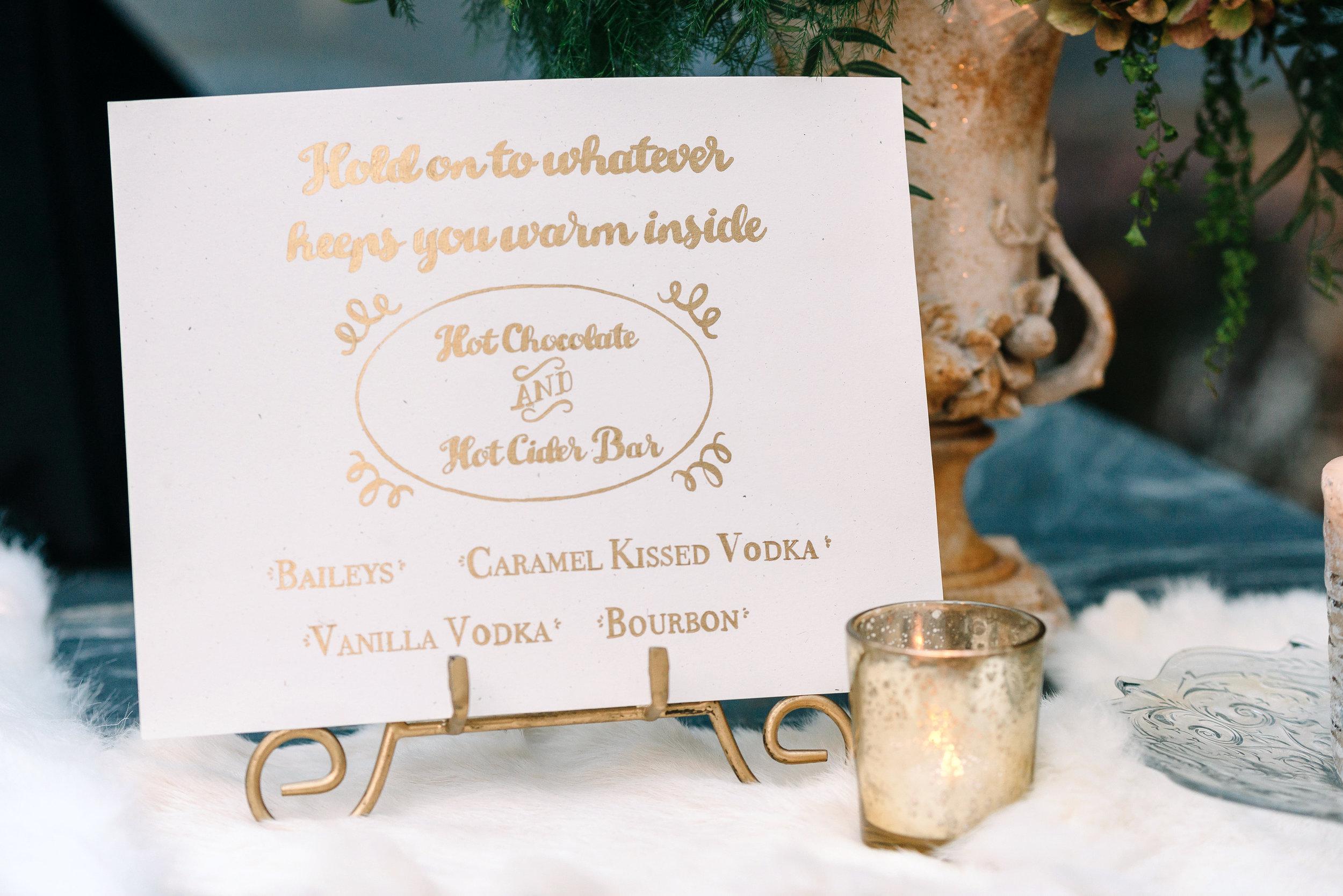 custom cocktail sign