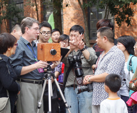 Ansen Seale on a cultural exchange in China with his slit scan camera