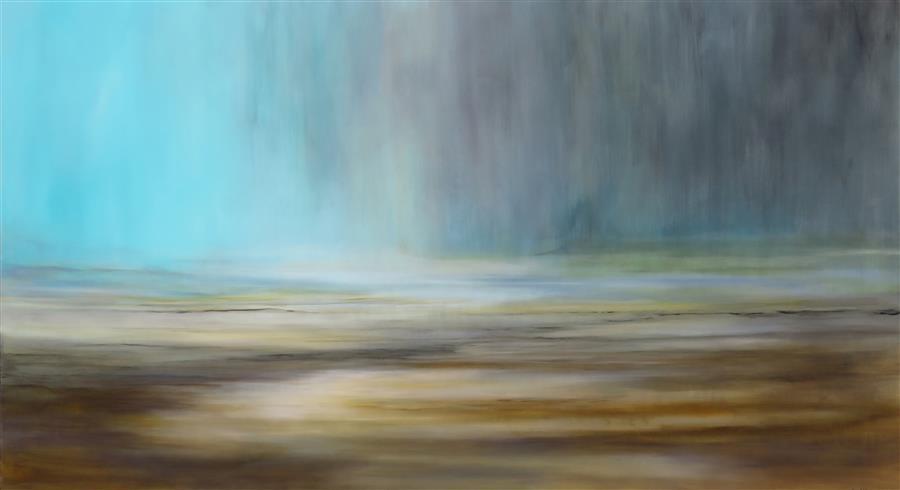 "Heaven's Declare Landscape (40"" x 72"") by Jenn Willimson, acrylic painting"