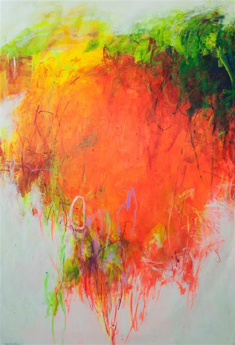 "Omnipresent Summer (94"" x 64"")by Elena Petrova, acrylic painting"