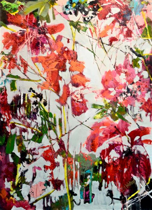 "Morning Light (30"" x 22"") by DL Watson, acrylic painting from the series  Botanicals"