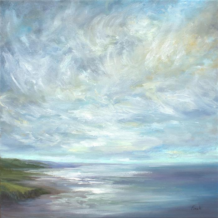 "Crosswinds  (20"" x 20"") by Sheila Finch, oil painting from series  Wind, Water and Light"