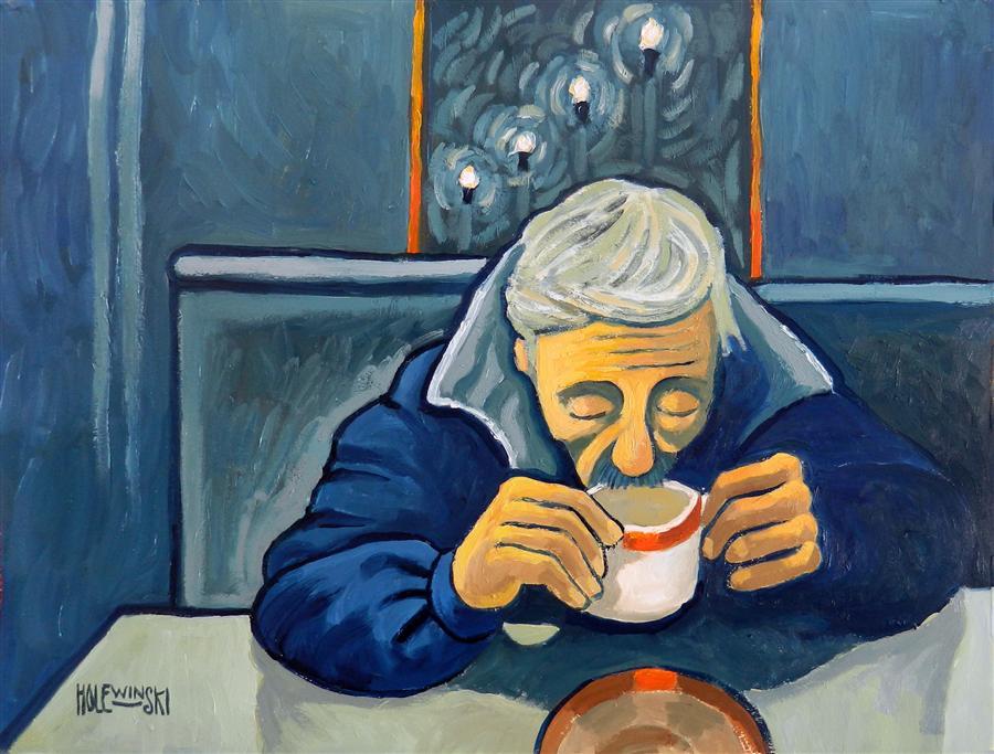 Late Night Coffee Shop  by  Robert Holewinski